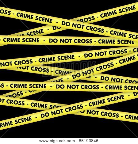 Background with crime scene warning tape