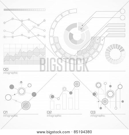 Infographic Elements In Grey