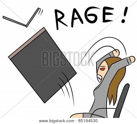 cartoon woman rage
