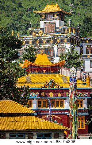 Buddhist temples in Rewalsar, Himachal Pradesh, India