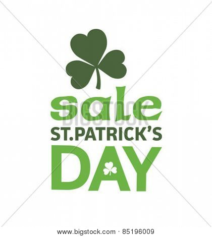 Digitally generated St patricks day sale advertisement vector