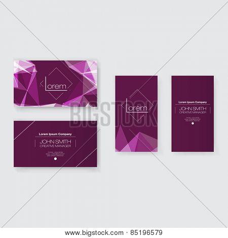 Abstract Business Card Template Set   Modern Vector Design