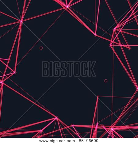 Abstract Pink Laser Light   EPS10 Vector Background