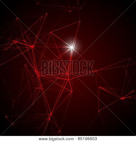 Abstract Red Laser Light | EPS10 Vector Background