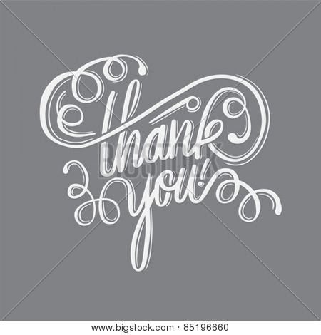 Digitally generated Thank you in cursive script