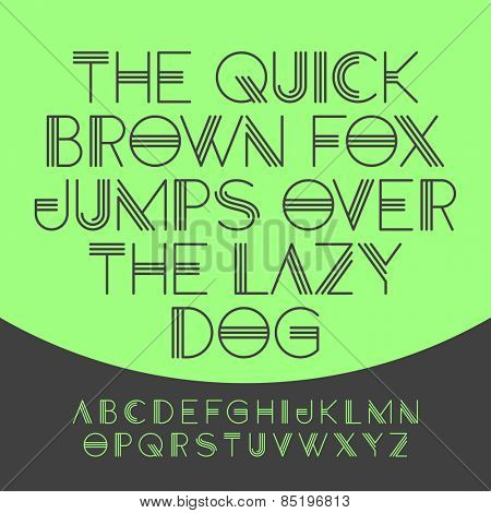 The quick brown fox jumps over the lazy dog, alphabet. Vector illustration.