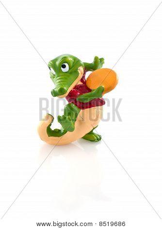 Brinquedo de crocodilo