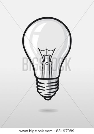 Digitally generated Light bulb vector