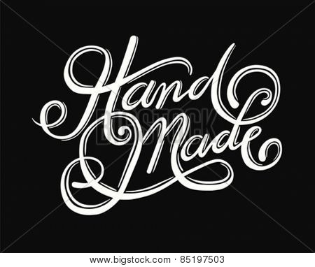 Digitally generated Handmade cursive font vector