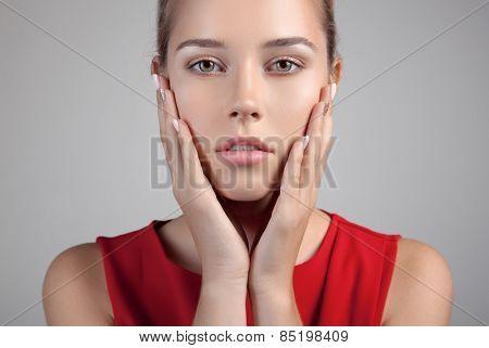 Beautiful Spa Woman . Perfect Fresh Skin.