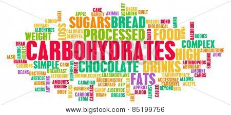 Carbohydrates Weight Loss Concept with Removing It