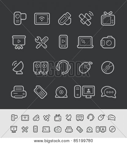 Communication Icons // Black Line Series -- EPS 10+ Contain Transparencies