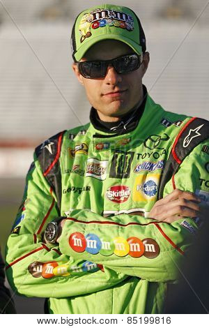 Hampton, GA - Feb 27, 2015:  David Ragan (18) prepares  to qualify for injured Kyle Busch for the QuikTrip Folds of Honor 500 at Atlanta Motor Speedway in Hampton, GA.
