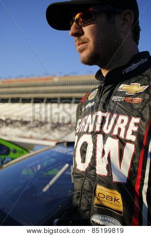 Hampton, GA - Feb 27, 2015:  Martin Truex Jr. (78) waits to qualify for the QuikTrip Folds of Honor 500 at Atlanta Motor Speedway in Hampton, GA.