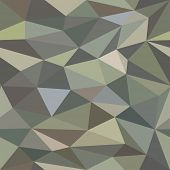 image of triangular pyramids  - Low Poly Seamless Camouflage Background Pattern - JPG