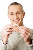 pic of quit  - Successful mature man quits smoking - JPG
