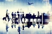 foto of terminator  - Airport Travel Business People Terminal Corporate Flight Concept - JPG