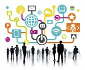foto of social system  - Global Communications Social Networking Business People Online Concept - JPG