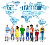 stock photo of role model  - Leadership Boss Management Coach Chief Global Concept - JPG