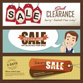 Sale banners design poster