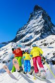 pic of family ski vacation  - Family winter ski holidays in Zermatt - JPG