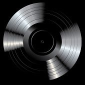 pic of lp  - vector blank black LP vinyl record - JPG