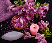 picture of salt-bowl  - Spa set and orchid  - JPG