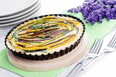 stock photo of tarts  - hoemade delicious vegetable tart  - JPG