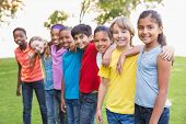 foto of child development  - Happy friends in the park on a sunny day - JPG