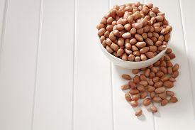 foto of ground nut  - ground nut in a white bowl - JPG