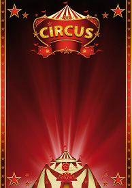 pic of circus tent  - Magic  red circus - JPG