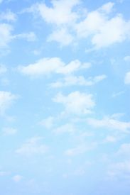 picture of spring-weather  - Light blue spring sky with clouds - JPG