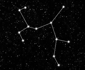 image of sagittarius  - constellation Sagittarius against the starry sky - JPG