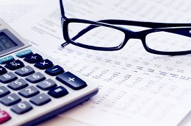 pic of calculator  - checking accounts with a calculator - JPG