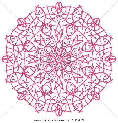 Pink circular pattern