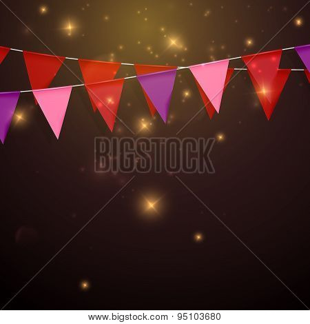 bunting flags. decorative elements for design