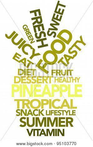 Pineapple typography