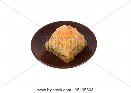 Serving Baklava With Pistachio