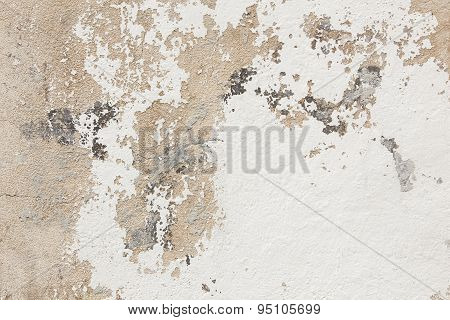 Pattern Of Broken Stucco And Paint On Wall