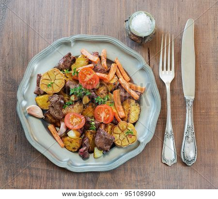 Roast Wild Game With Vegetables