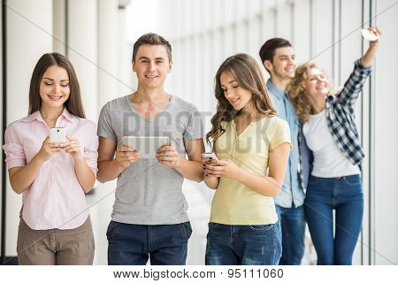 Students With Gadgets
