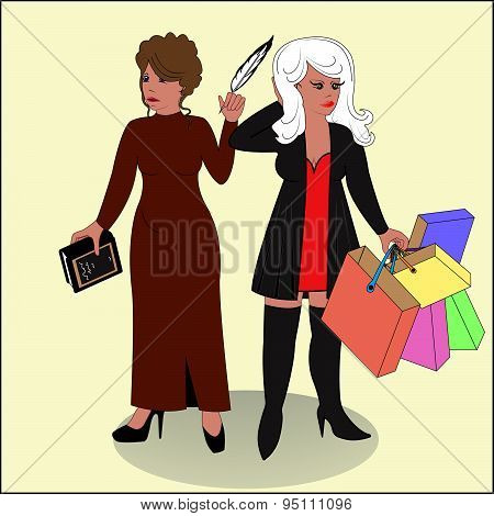 Poetess And Shopaholic.