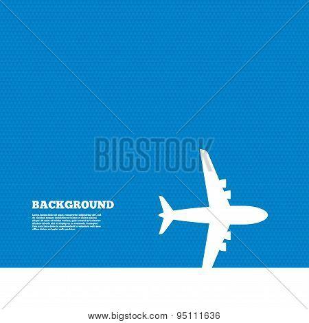 Airplane sign. Plane symbol. Travel icon.