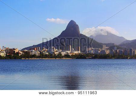 Lagoon Rodrigo De Freitas (lagoa), Rio De Janeiro, Brazil