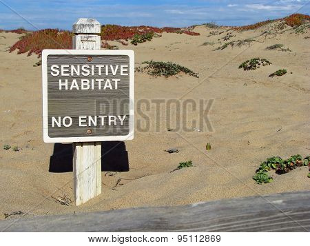 Sensitive Habitat Sign