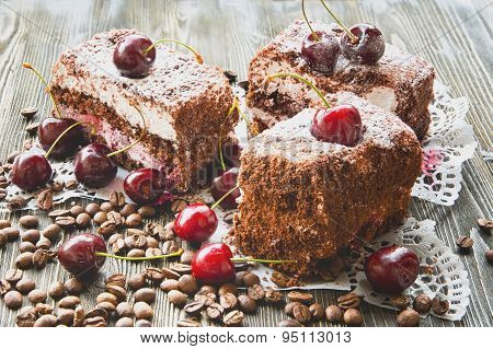 cake with grated chocolate