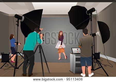 Photographer Shooting Model