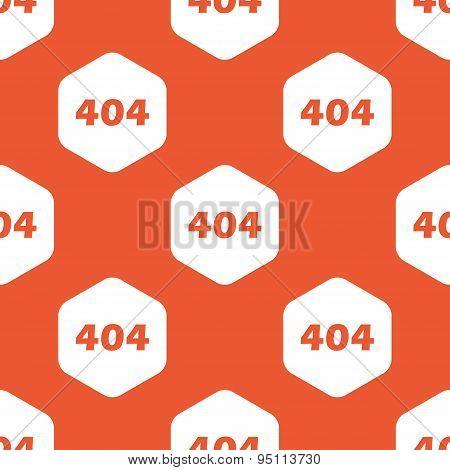 Orange hexagon error 404 pattern