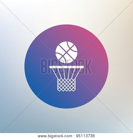 Basketball basket and ball icon. Sport symbol.