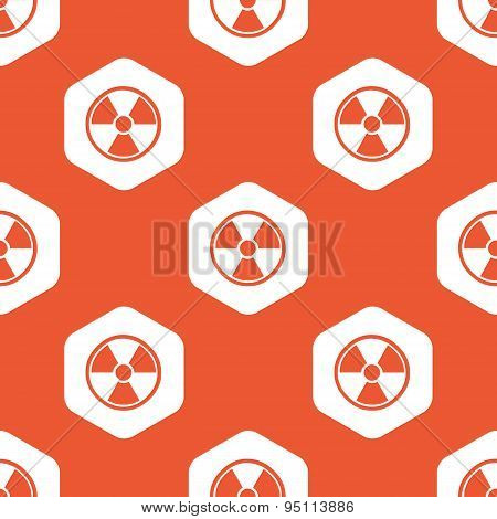 Orange hexagon hazard pattern
